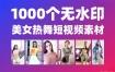 1000个快手、抖音美女热舞短视频素材(无水印)