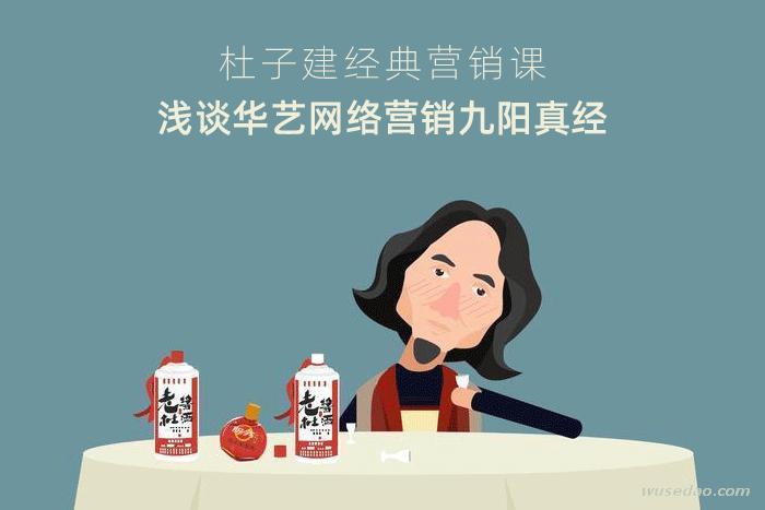杜子建营销课《浅谈华艺网络营销九阳真经》