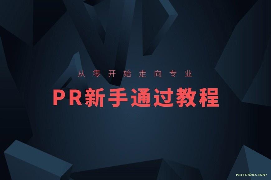PR视频剪辑新手通关课程,从零开始走向专业