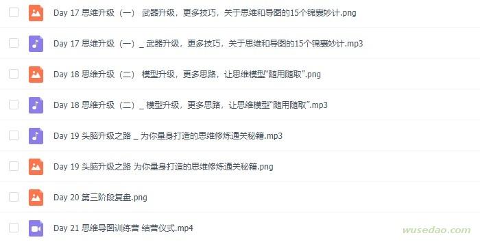 樊登读书:思维导图高频应用21天训练营