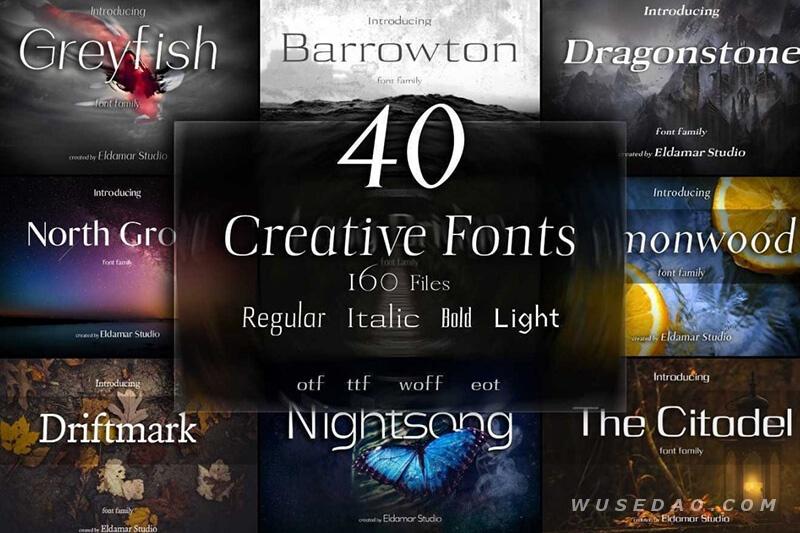 可免费商用的40款英文创意字体,让你的作品脱颖而出!